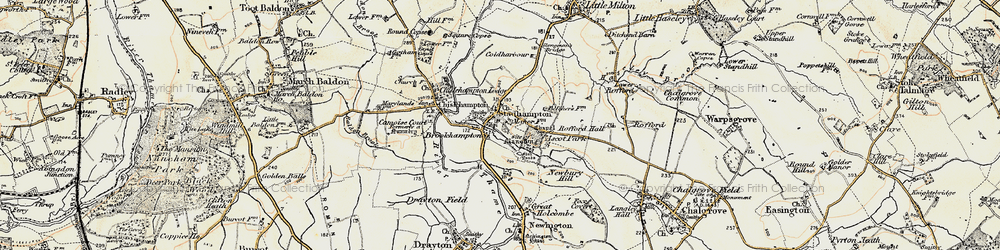 Old map of Brookhampton in 1897-1899