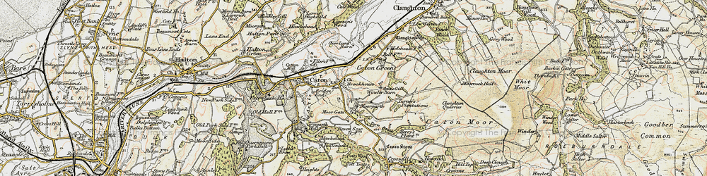Old map of Annas Ghyll in 1903-1904
