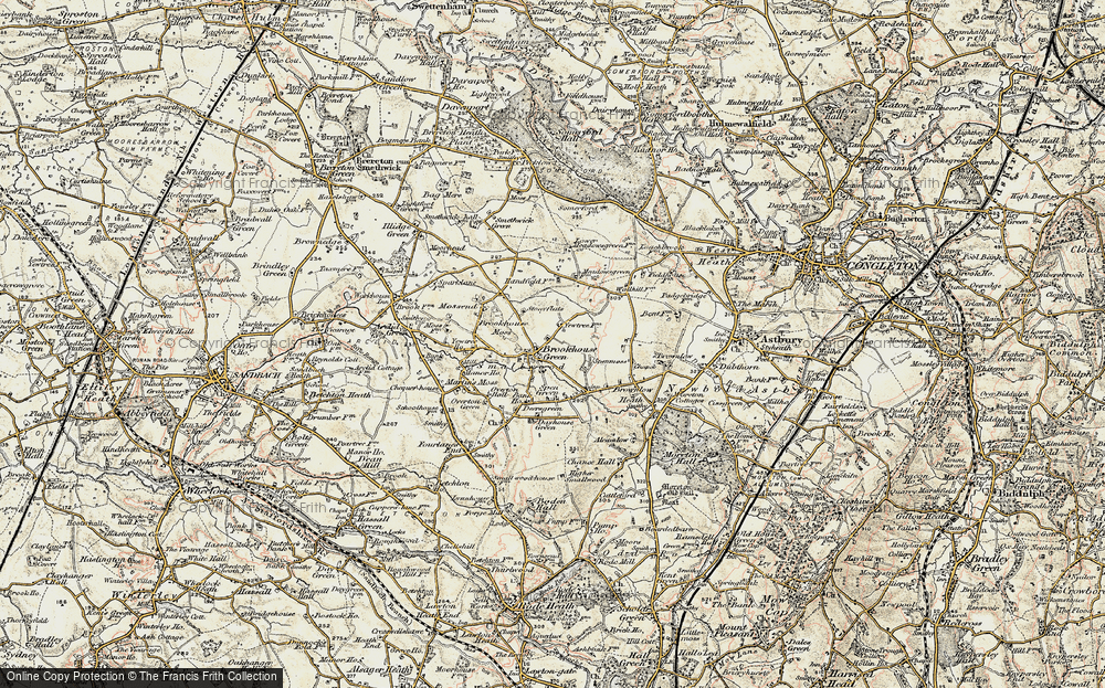 Old Map of Brookhouse Green, 1902-1903 in 1902-1903