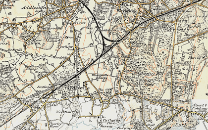 Old map of Brooklands in 1897-1909
