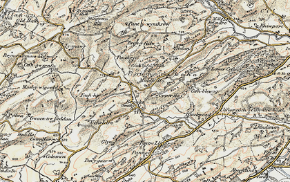 Old map of Brooks in 1902-1903