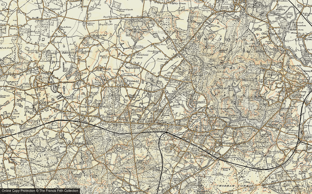 Old Map of Historic Map covering Ascot Place in 1897-1909