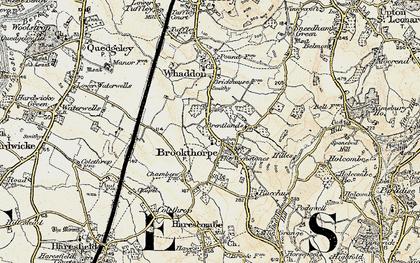 Old map of Wynstones Ho in 1898-1900
