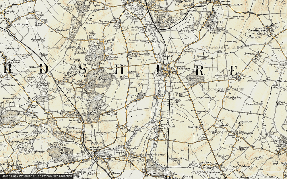 Old Map of Broom, 1898-1901 in 1898-1901