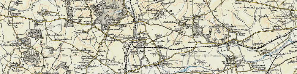 Old map of Broom in 1899-1901