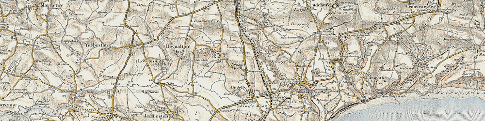 Old map of Windberry Top in 1901