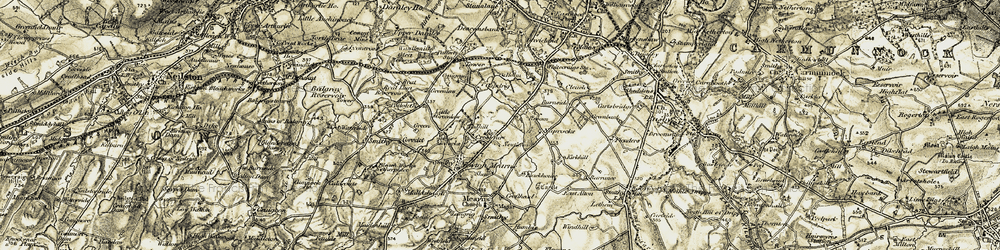 Old map of Broom in 1904-1905