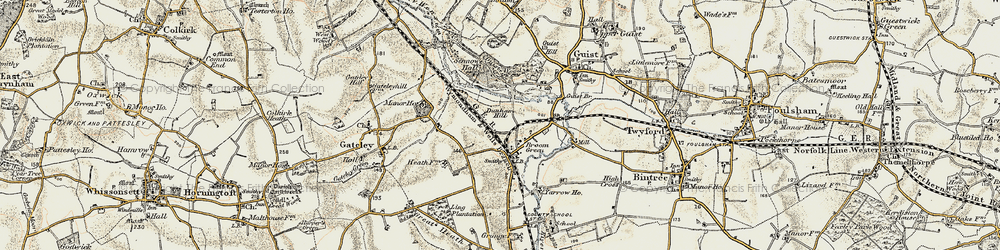 Old map of Yarrow Ho in 1901-1902