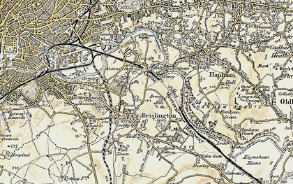 Old map of Broom Hill in 1899