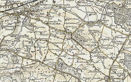 Old map of Broomedge in 1902-1903