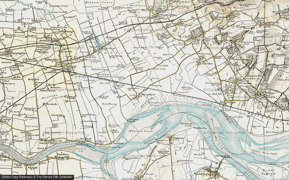 Old Map of Historic Map covering Laxton Grange in 1903