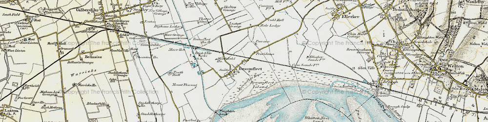 Old map of Whitton Island in 1903