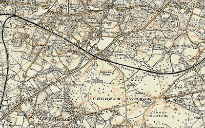 Old map of Broomhall in 1897-1909