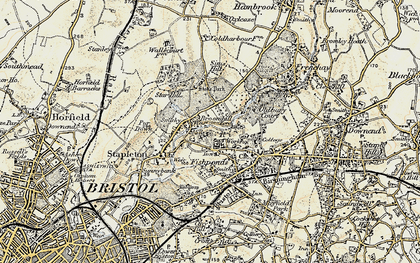 Old map of Broomhill in 1899
