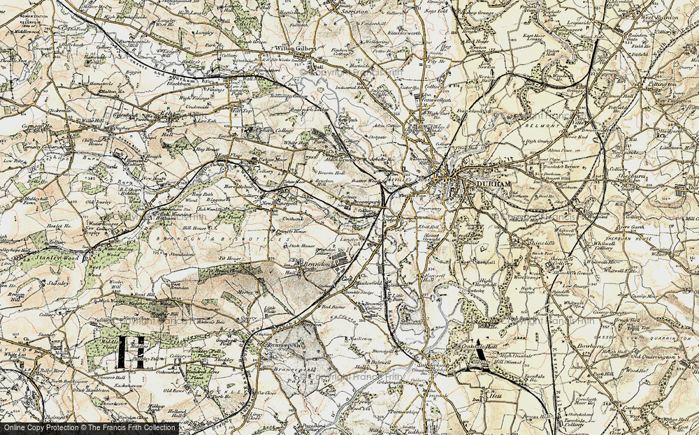 Old Map of Historic Map covering Aldin Grange in 1901-1904