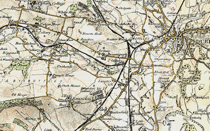 Old map of Aldin Grange in 1901-1904
