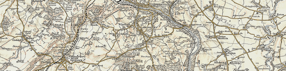 Old map of Broseley in 1902