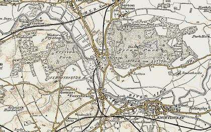 Old map of Brotherton in 1903