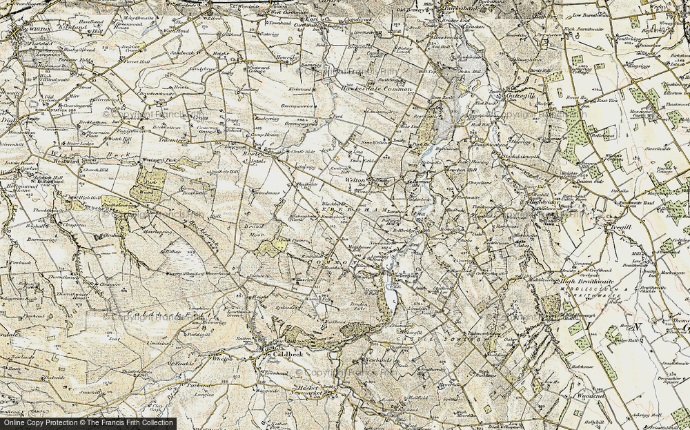 Old Map of Historic Map covering Thwaites in 1901-1904