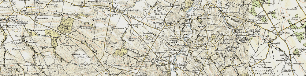 Old map of Thwaites in 1901-1904