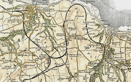 Old map of Brotton in 1903-1904