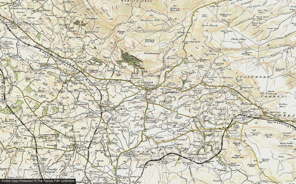 Old Map of Historic Map covering Augill Beck in 1903-1904
