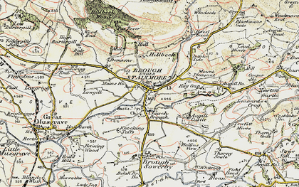 Old map of Augill Ho in 1903-1904