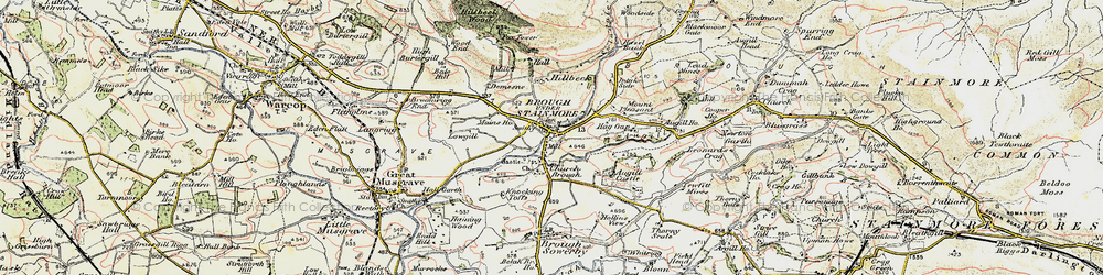Old map of Brough in 1903-1904