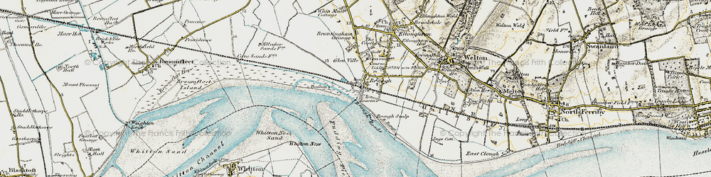Old map of Brough in 1903-1908
