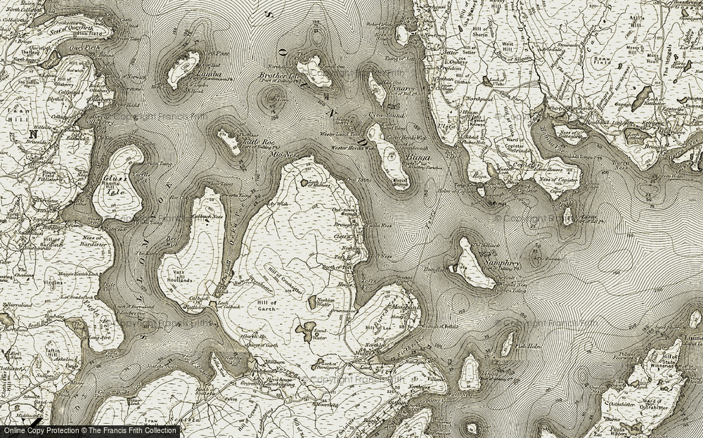 Old Map of Historic Map covering Ay Wick in 1912