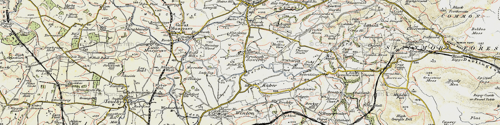Old map of Whitrigg in 1903-1904