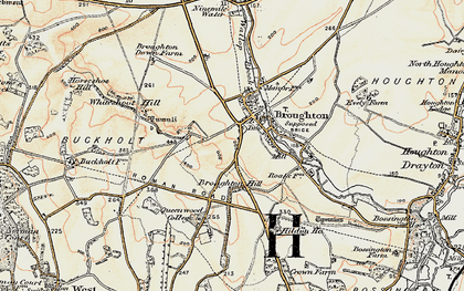 Old map of Broughton in 1897-1898