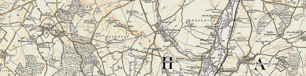Old map of Whiteshoot Hill in 1897-1898