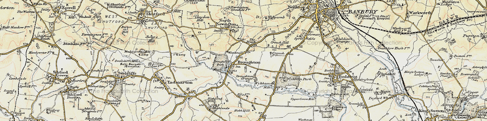 Old map of Wykham Mill in 1898-1901