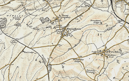 Old map of Broughton in 1901-1902
