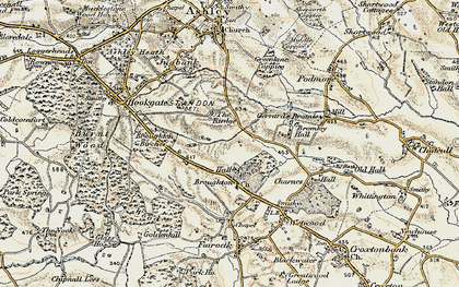 Old map of Broughton in 1902