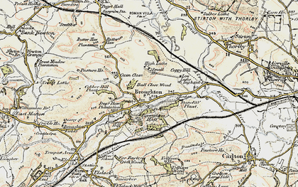 Old map of Broughton in 1903-1904