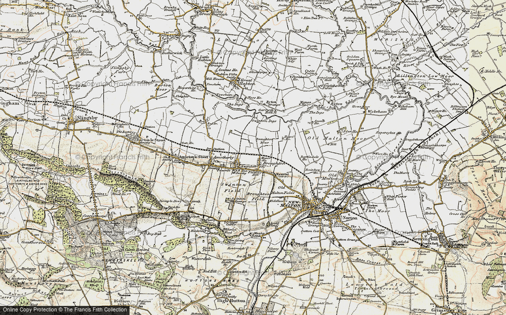 Old Map of Broughton, 1903-1904 in 1903-1904
