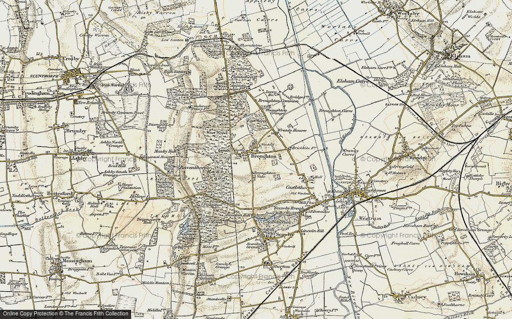Old Map of Broughton, 1903-1908 in 1903-1908