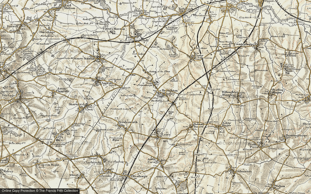 Old Map of Broughton Astley, 1901-1902 in 1901-1902