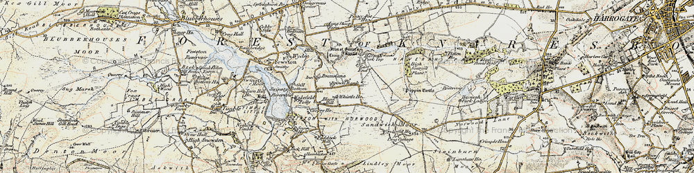Old map of Whistle Ho in 1903-1904