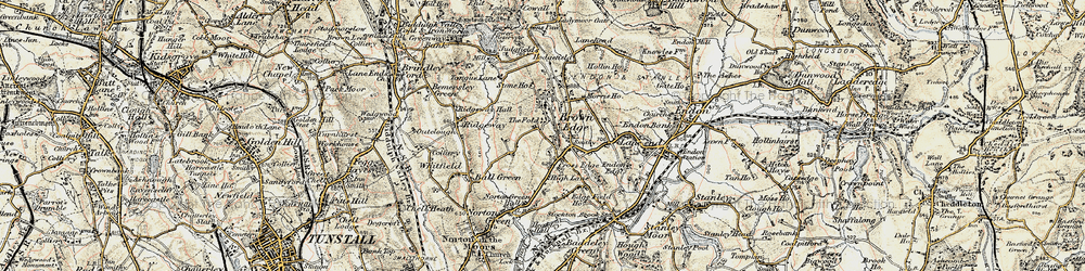 Old map of Brown Edge in 1902