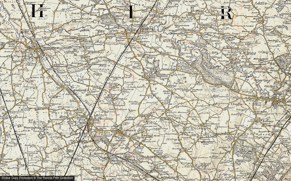 Old Map of Brownedge, 1902-1903 in 1902-1903