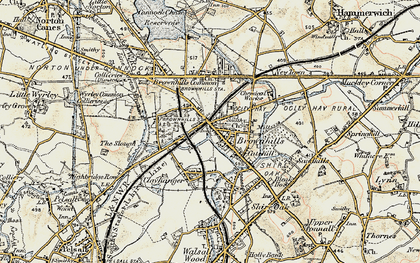 Old map of Brownhills in 1902