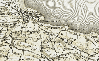 Old map of Allanhill in 1906-1908