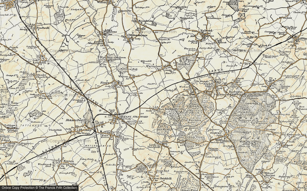 Old Map of Browns Wood, 1898-1901 in 1898-1901