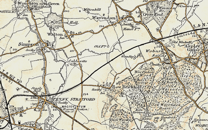 Old map of Browns Wood in 1898-1901