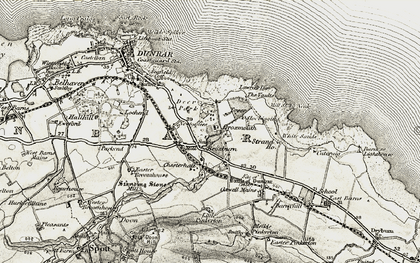 Old map of White Sands in 1901-1906