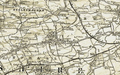 Old map of Learielaw in 1904
