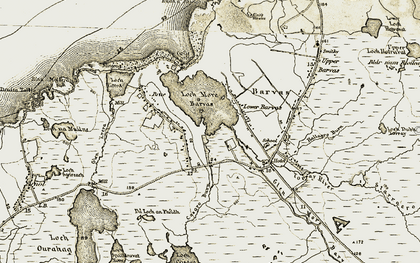 Old map of Allt Casgro in 1911